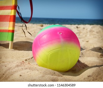 A ball on a sea beach