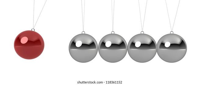 ball pendulum - 3d render on white
