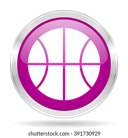 ball pink modern web design glossy circle icon