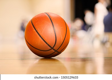 Ball placed on gym floor during basketball timeout
