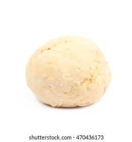 Ball of raw dough isolated over the white background