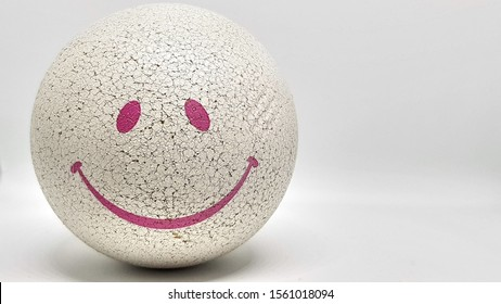 ball with a smile face