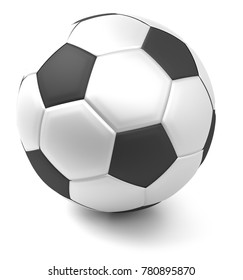 ball soccer football white isolated 3d rendering