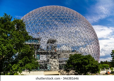 Ball of steel, Biosphere in Montreal, Canada