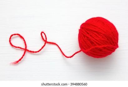 Ball of yarn for knitting