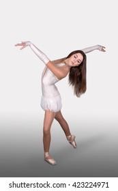 the ballerina  dances