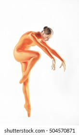 ballerina with leg outstretched