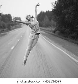 ballerina on the highway