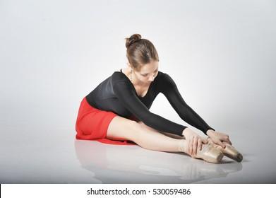 ballerina in a short skirt