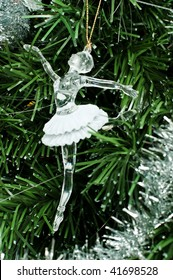 ballerina toy on christmas tree