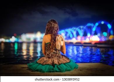 Ballerina Views around Curacao a small Caribbean Island