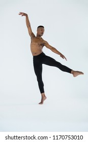 Ballerino practising ballet dance in the studio