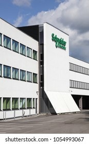 Ballerup, Denmark - March 9, 2017: Schneider Electric building and offices. Schneider Electric is a European multinational corporation, leader in automation and electricity management