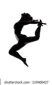 ballet dancer in black body paint series isolated on white background expressive artistic dance concept
