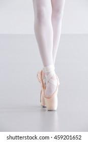 Ballet Dancer Legs Pointe Shoes