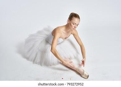 ballet dancer on a light background