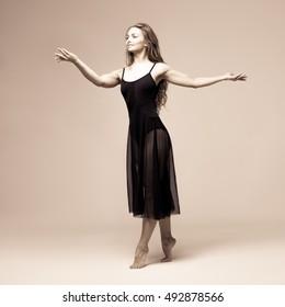 Ballet dancer woman black dress