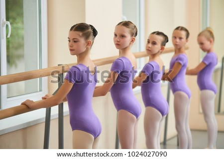 32ca1a38cb05 Ballet Girls Training Before Performance Little Stock Photo (Edit ...