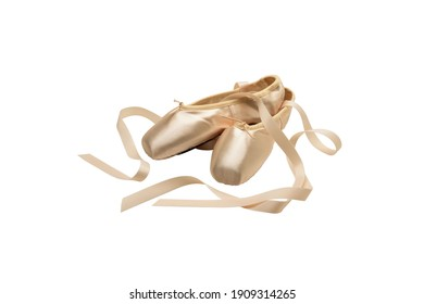 Ballet shoes isolated on white background