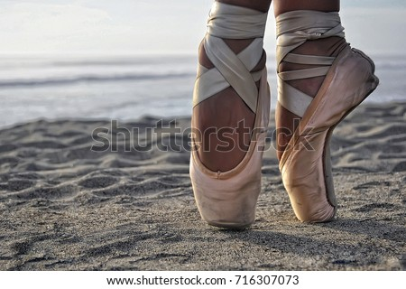 c2a1c1665 ... Stock Photo (Edit Now) 716307073 - Shutterstock. ballet shoes on beach