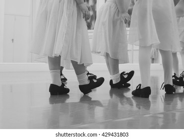 Ballet students in tap shoes.