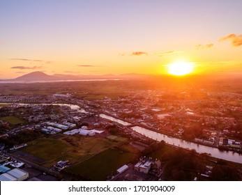 Ballina town Co.Mayo during sunset Ireland