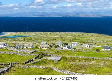 Ballinacregga, typical settlement on Inishmore (Arans Islands), Galway, Ireland