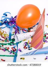 ballon and confetti