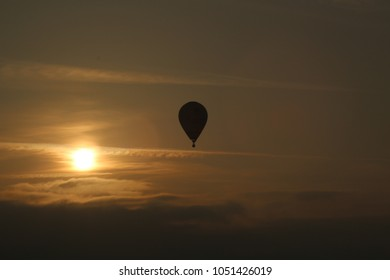 Ballon in the Sunset.