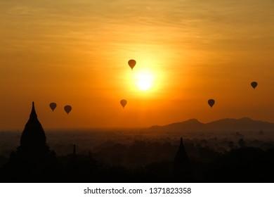 Ballons over Bagan - Myanmar