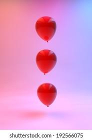 Ballons in Rainbow Studio Render