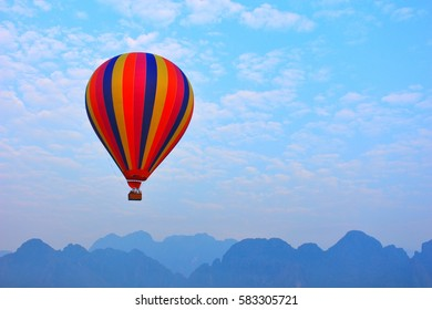 Balloon in the blue sky and clound