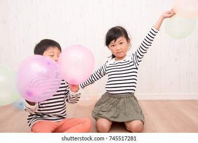 Balloon and children