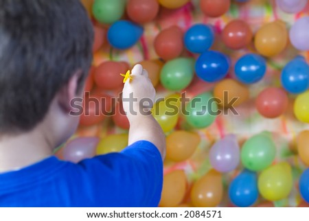Balloon Dart Toss Carnival Skill Game Stock Photo Edit Now 2084571