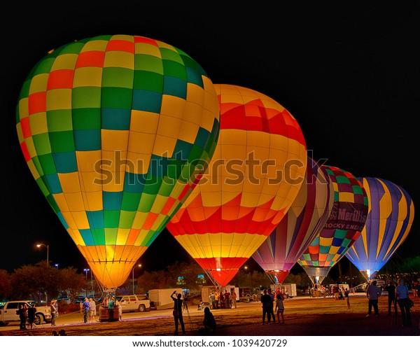Balloon Festival at Night