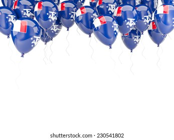 Balloon frame with flag of french southern territories isolated on white