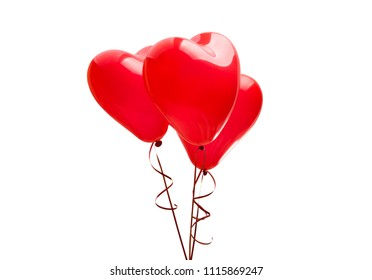 balloon heart isolated on white background