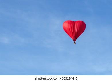 Balloon heart on sky