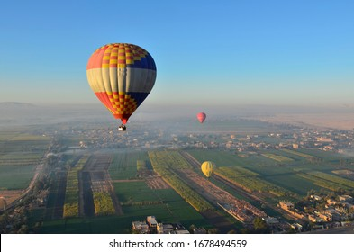 Balloon and morning light in Egypt