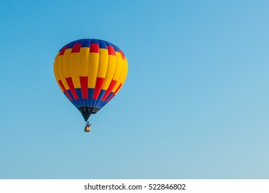 the balloon on the blue sky background