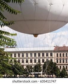 Balloon in town
