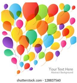 Balloons Background, raster illustration