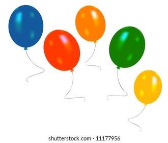 Balloons clip-art