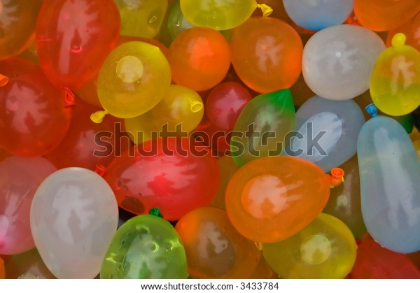 Balloons filled with water