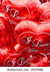 balloons in form of the heart