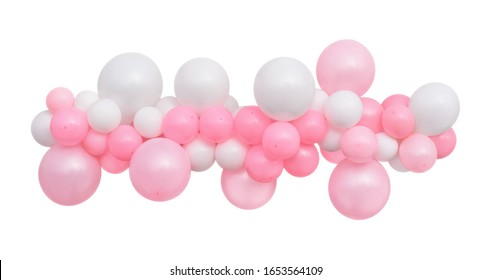 Balloons Garland isolated on a white background