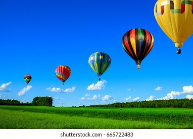 Balloons over the plains.