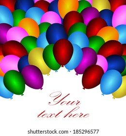 balloons in various colors