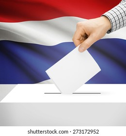Ballot box with national flag on background series - Thailand