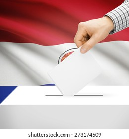Ballot box with national flag on background series - Paraguay
